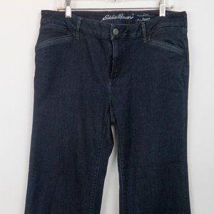 Eddie Bauer Curvy Trouser Blue Jeans Size P16